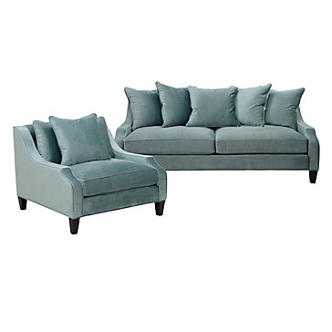 Gallery For Aqua Accent Chair