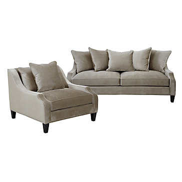 chic combo brighton moonbeam sofa chair sofa combos chic