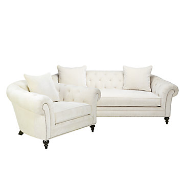 chic combo olivia sofa chair z gallerie