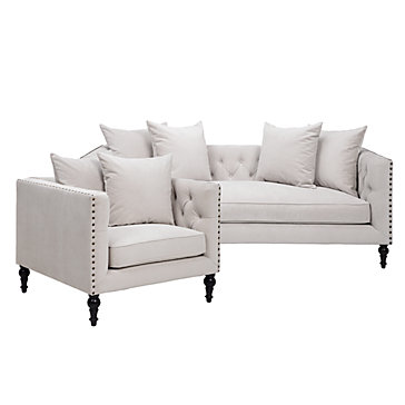 chic combo roberto sofa chair z gallerie