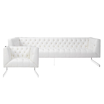 chic combo skyler white sofa chair sofa combos chic combos