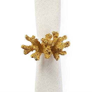 Coral Napkin Ring - Set of 4