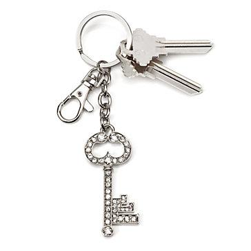 Crystal Key Keychain