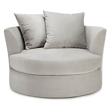 Cuddler chair cozy round cuddle chair z gallerie for Small cozy chair