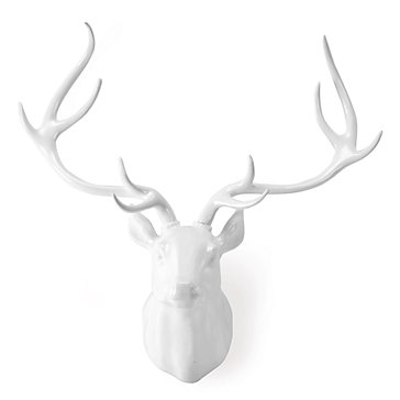 Faux Deer Head In White Laquer Z Gallerie