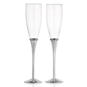 Diamond Ring Flutes - Set of 2 | Gifts for Her | Gifts | Z ...