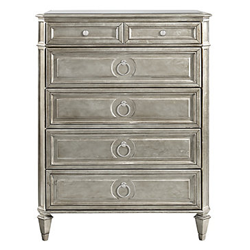 Empire 5 Drawer Tall Chest | Aqua Jameson Bedroom Inspiration ...