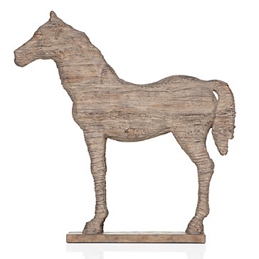 Faux Driftwood Horse