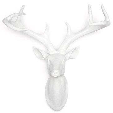 Faux White Deer Head