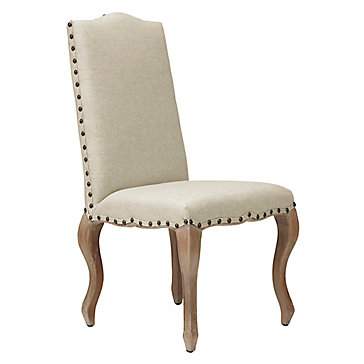 Florette Side Chair - Natural w/Washed Oak Leg