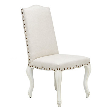 Florette side chair natural w white painted leg for Z gallerie dining room chairs