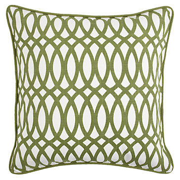 "Geo Pillow 22"" - Apple Green"
