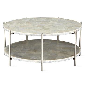 Glacier coffee table aqua roberto living room for Coffee tables z gallerie