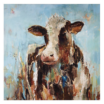 Happy Cow Canvas Art By Type Art Z Gallerie