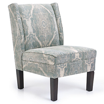 Ibiza wing back chair chairs living room furniture for Z gallerie living room chairs