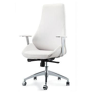 Jack Desk Chair White on White Office Inspiration Office