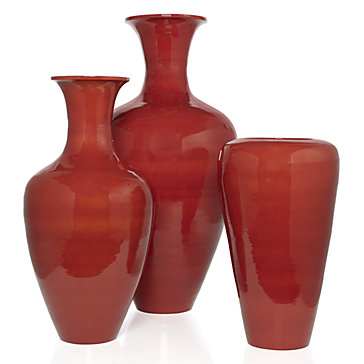 Lacquer Vases - Burnt Orange