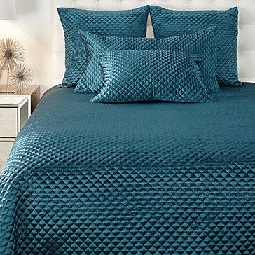 Leyton Bedding Praque Cerulean Bedroom Inspiration
