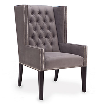 Winged Chair Logan Wing Chair Z Gallerie