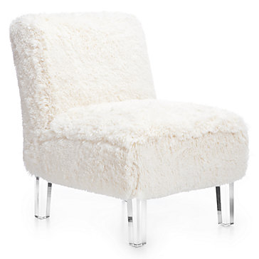 White Fluffy Chair Chairs Model