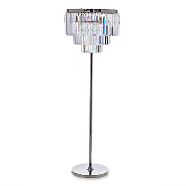 luxe crystal floor lamp z gallerie. Black Bedroom Furniture Sets. Home Design Ideas