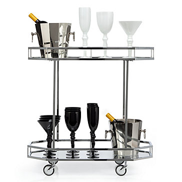 Metropolitan Bar Cart Mirrored Furniture Furniture Z