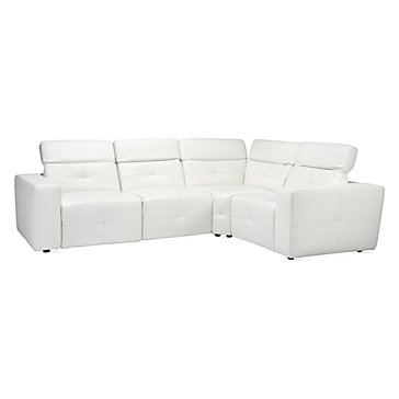 Milan White Leather Sectional Z Gallerie
