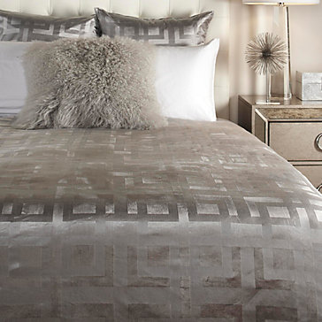 Ming Velvet Bedding Steel Marabella Collection