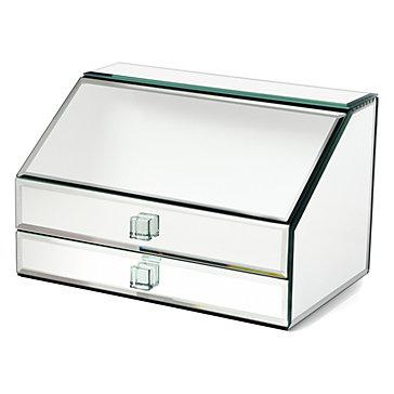 Mirrored jewelry box unique jewelry storage z gallerie for Mirror jewelry box