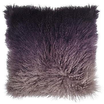 Ombre Mongolian Pillow 22 Quot Vapor Sectional Aubergine