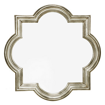 Quatrefoil mirror champagne frame z gallerie for Mirror z gallerie