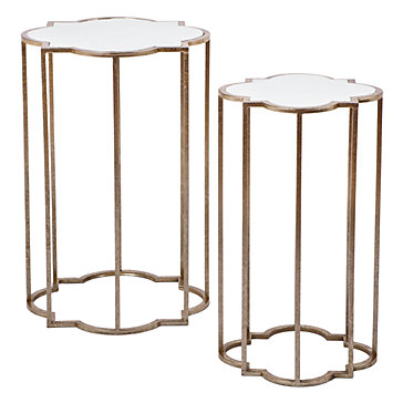 Quatrefoil Tables Set Of 2 End Tables Occasional