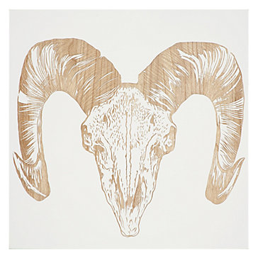 Ram Skull Panel Wall Decor Mirrors Amp Wall Decor