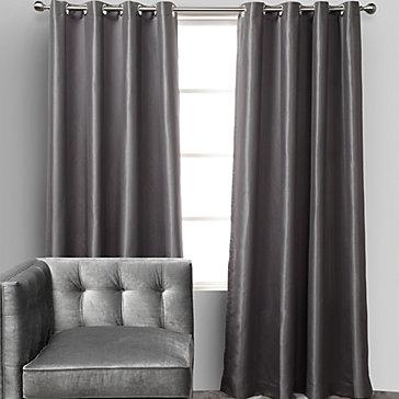 Roma Tonal Striped Panels - Grey