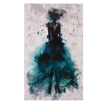 Runway Peacock Canvas Art By Type Art Z Gallerie