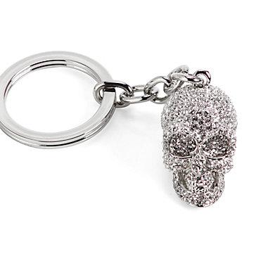 Skull Keychain - Silver