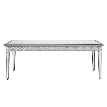 Dining Table With Mirror Mirrored Dining Table  Sophie Collection  Z Gallerie