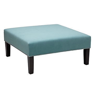 Square Cocktail Ottoman - Aquamarine