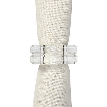 Square Napkin Ring - Set of 4
