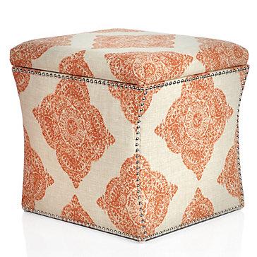 Storage Ottoman - Mani Terracotta