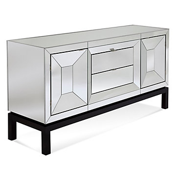 Tangent Mirrored Buffet Cabinet Live In Color Dining5