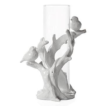 Timbre Vase - White