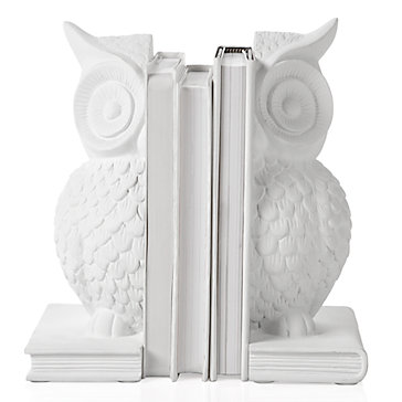 White Owl Bookends