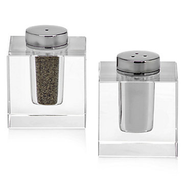 Winston Cystal Salt And Pepper Shakers