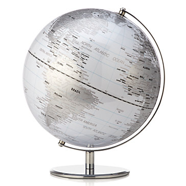 World Globe - White