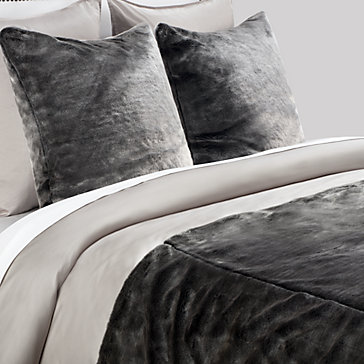 York Bedding Collection - Black/Silver