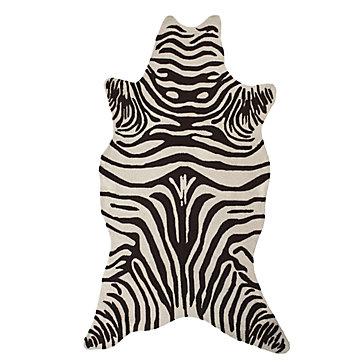 Zebra Rug - Chocolate