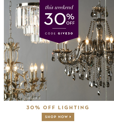 30% off lighting