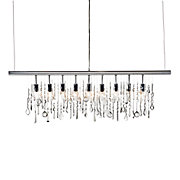 Linear Strand Crystal Chandelier