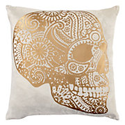 Sugar Skull Pillow 22""